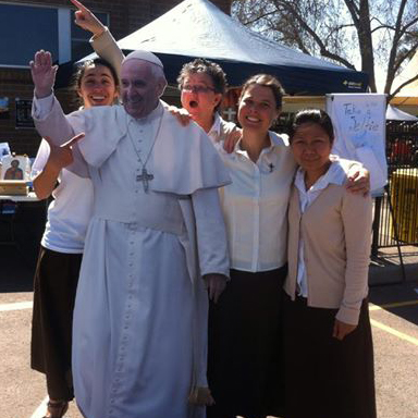 Pope Francis and sisters